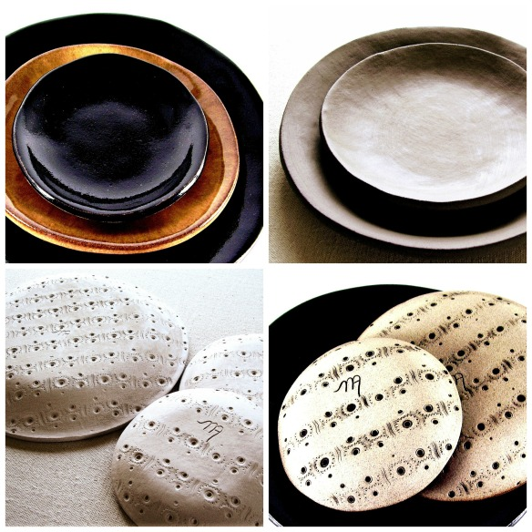 the moon handmade dinnerware by melinda marie alexander xfourjpg