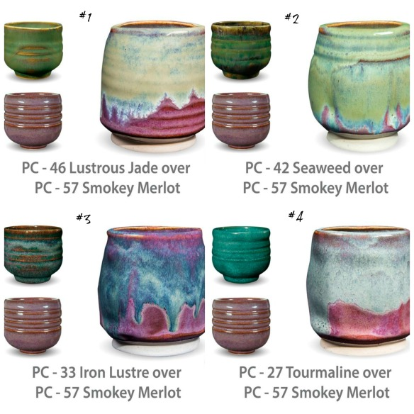 PC glaze combinations