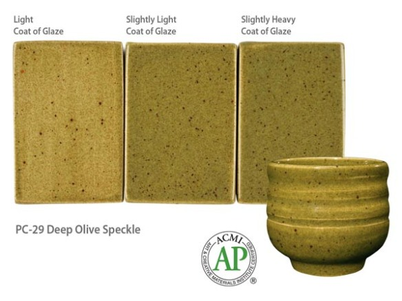 Potters Choice Galze Deep Olive Speckle
