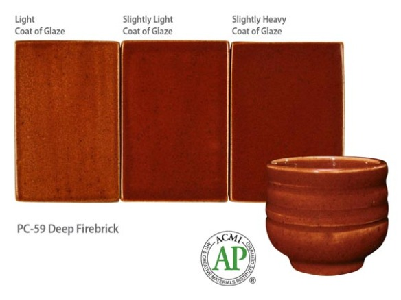 Potters Choice Glaze Deep Firebrick