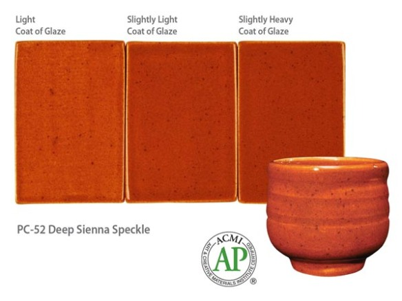 Potters Choice Glaze Deep Sienna Speckle