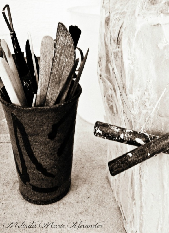 pottery tools and claywithtext