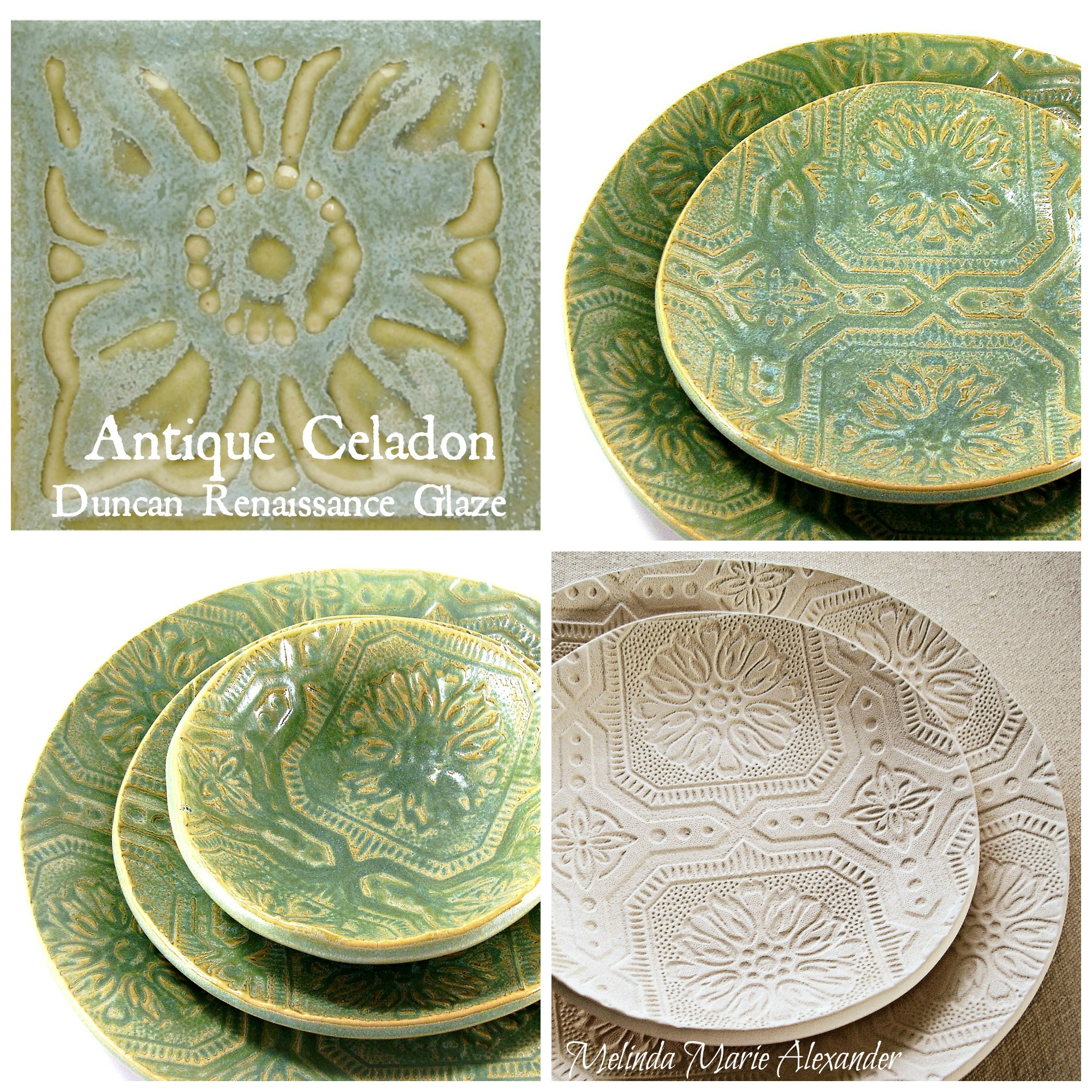 This is another one of my handmade dinnerware collections called Tropical Breeze. Theyu0027re glazed just like Lake House three coats on all sides. & textured plates | Raven Hill Pottery